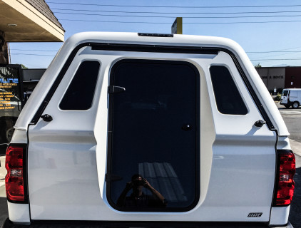 ARE MX series camper shell with full walk in rear door