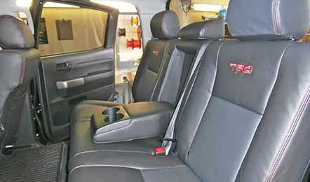 Black Leather Back Seats