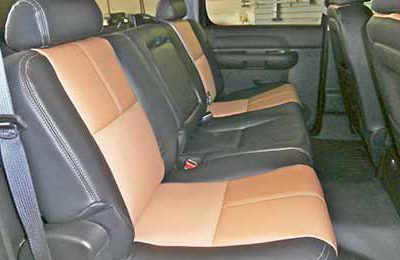 Brown Leather Back Seats