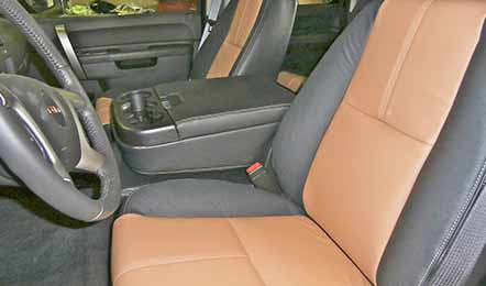 Brown Leather Front Seats Trimline Of Reno Truck Accessories