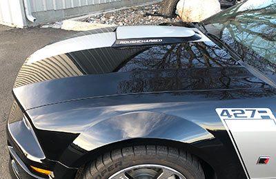 Black 427 Car with Clear Bra